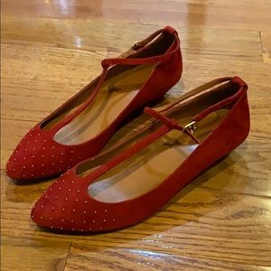 Madewell red flats studded 8